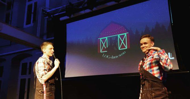 Våra fina toastmasters som gjorde ett underbart jobb på LOGdans 2020, Andreas till vänster och Adam till höger!